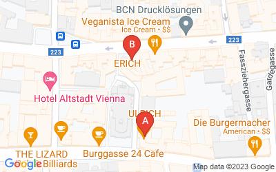 Standorte von ULRICH Cafe Restaurant Bar und ERICH Cafe Bar