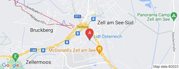 Standort von Lehre zum/-r Einzelhandelskaufmann/-frau 5700 Zell am See, Flupplatzstr. 40