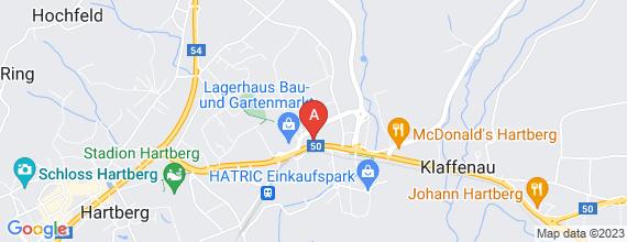 Standort von Samstagskraft (m/w)  8230 Hartberg, Ferdinand-Leihs-Str. 39 (6 Std./Woche)