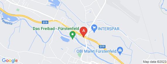 Standort von Lehre zum/-r Einzelhandelskaufmann/-frau  8280 Fürstenfeld, Ledergasse 17