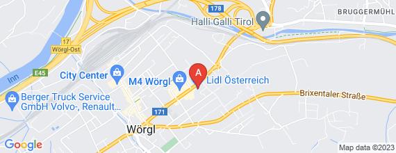 Standort von Verkaufsmitarbeiter/in (24 Std./Woche)  6300 Wörgl, Johann Federer Str. 30