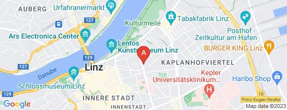 Standort von Lehre zum/-r Einzelhandelskaufmann/-frau 4020 Linz, Kaisergasse 16a