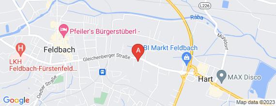 Standort von Lehre zum/-r Einzelhandelskaufmann/-frau  8330 Feldbach, Gleichenberger Str. 66