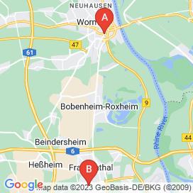 Standorte von Gastronomie Jobs in Worms - August 2018