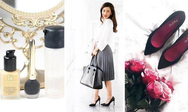 Drei Bilder der Bloggerin Dolce Petite in einer Collage.