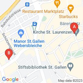 Standorte von Jobs in St. Gallen (Bezirk St. Gallen) - Mai 2018