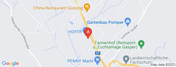 Standort von Verkaufsmitarbeiter/in (15 - 20 Std./Woche) 7540 Güssing, Wiener Str. 27
