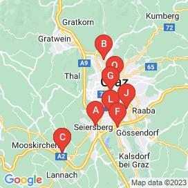 Standorte von Geringfügig Jobs in Graz - Juni 2018