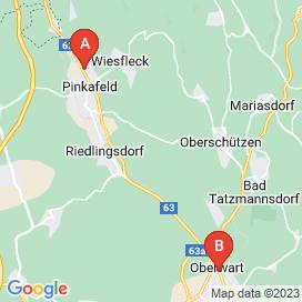 Standorte von Wiener Jobs in Oberwart - August 2018