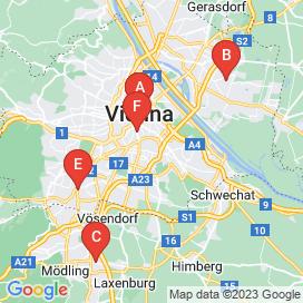 Standorte von Busfahrer Jobs in Wien - August 2018