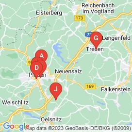 Standorte von Jobs und Stellenangebote in Plauen - April 2018