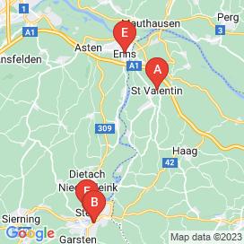 Standorte von CNC Jobs in Edelhof - August 2018