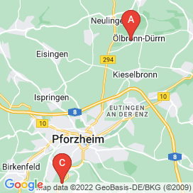 Standorte von Konstrukteur Jobs in Pforzheim - August 2018