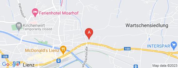 Standort von Verkaufsmitarbeiter/in  9900 Lienz, Kärntner Straße 63  (20 Std./Woche)