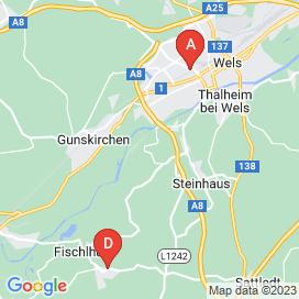 Standorte von Kassa Jobs in Wels - August 2018