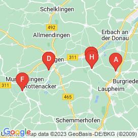 Standorte von Vollzeit Jobs in Allmendingen - August 2018