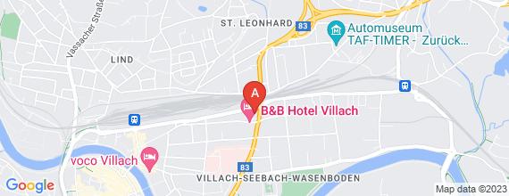 Standort von Lehre zum/-r Einzelhandelskaufmann/-frau  9500 Villach, Klagenfurter Straße 70