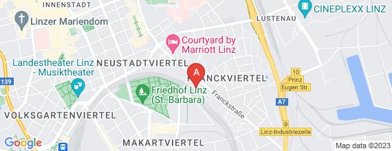 Standort von Lehre zum/-r Einzelhandelskaufmann/-frau 4020 Linz, Franckstr. 18
