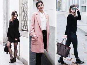 Drei Outfits der Bloggerin