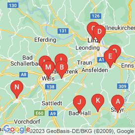 Standorte von Geringfügig Jobs in Linz-Land - Mai 2018