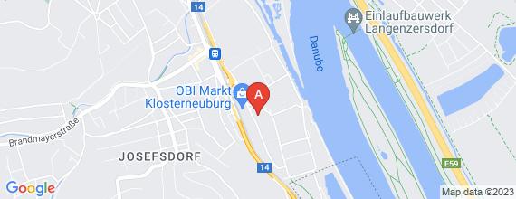 Standort von Filialleiter/in Filiale 3400 Klosterneuburg, Aufeldgasse 53