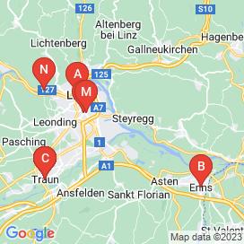 Standorte von Bau Jobs in Ansfelden - Mai 2018