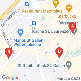 Standorte von Jobs in St. Gallen - August 2018