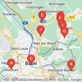 Standorte von Jobs  in Weil Am Rhein (Bezirk Weil Am Rhein) - April 2018