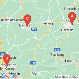 Standorte von Metalltechnik Jobs in Steinbach an der Steyr - Mai 2018