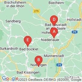 Standorte von Helfer Jobs in Bad Neustadt an der Saale - August 2018