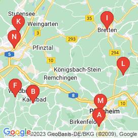 Standorte von 130+ Jobs in Königsbach-Stein - August 2018