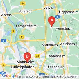 Standorte von Lebensmittel / Agrarwirtschaft Jobs in Mannheim - August 2018